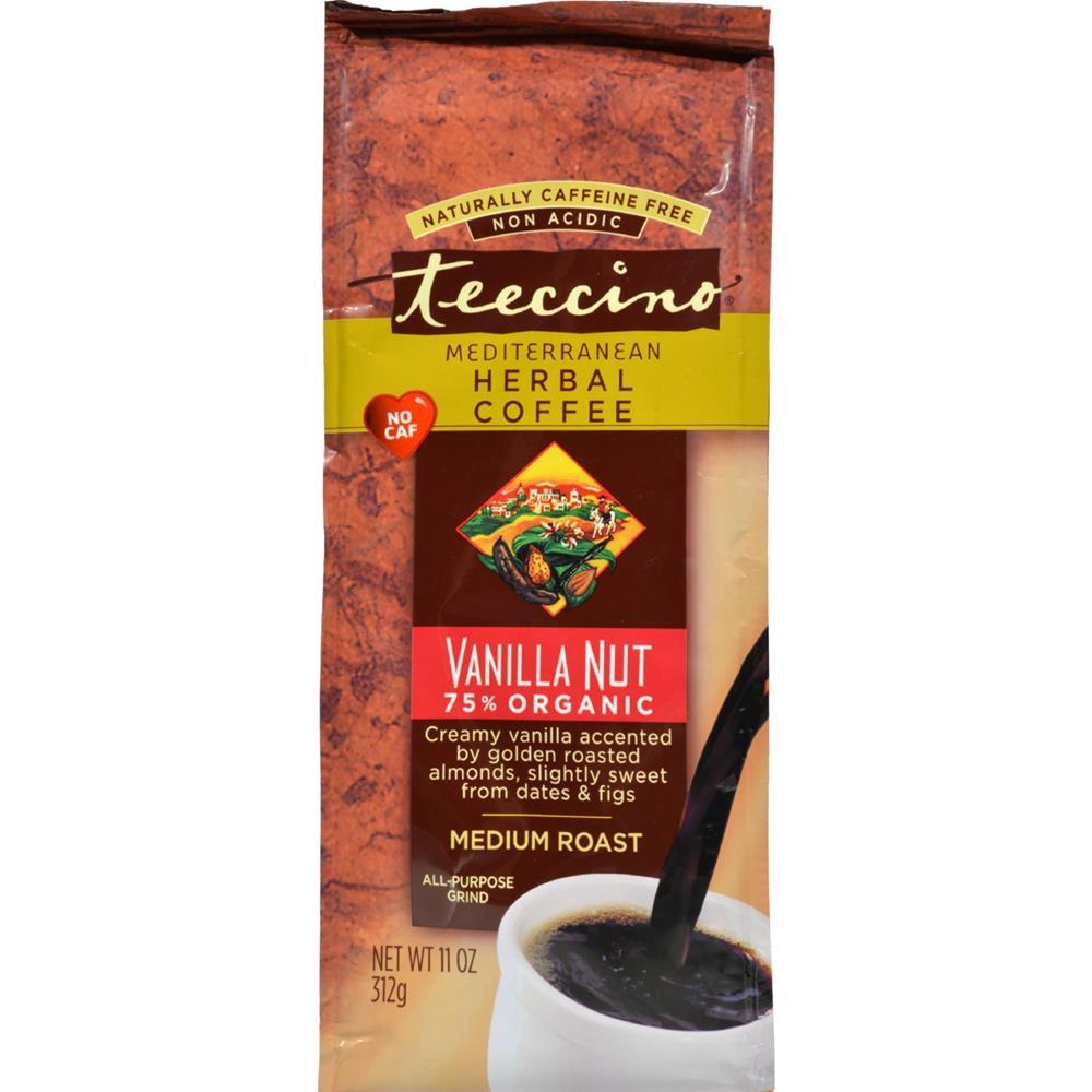 Teeccino - Mediterranean Herbal Coffee - Medium Roast - Caffeine Free - Vanilla Nut ( 2 - 11 OZ) %count(alt)