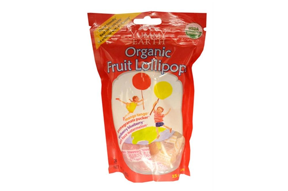 Organic Fruit Lollipops from Yummy Earth ( Case of 3 - 3 OZ) %count(alt)